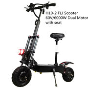Flj Style 60v 30ah 6000w Strong Scooter 11inch Wheels Dual Motor Electric 85 Km