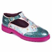 Bed Of Roses By Irregular Choice Nico H Loafers Brogue Buckle Up Shoes Uk 4