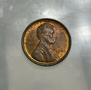 1909 Vdb Lincoln Wheat Cent Penny 1c Gem Bu+ Uncirculated Detail Toned 5