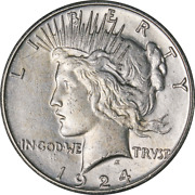 1924-s Peace Dollar Great Deals From The Executive Coin Company