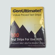 Genultimate Blood Glucose Strips 200 Count- 2 Boxes Of 100 New Exp 8/2021