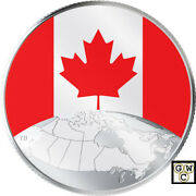 2019 ' This Is Canada ' Glow-in-the-dark 5 Fine Silver 1/4oz. Coin18749nt