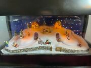Gorgeous Mr Christmas Lighted Moving Sledders 70 Tune Bells Music Box Video