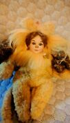 Marie Osmond Tiny Tots Porcelain Doll Wizard Of Oz Cowardly Lion Hand Numbered
