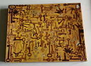 1975 Springbok 500 Pc Just For Openers Antique Keys Puzzle