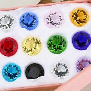 11color Glass Crystal Diamond Shape Paperweights Facet Jewel Wedding Gift 30mm