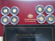 Australia. 2012 8 Gold Coin - Minature Proof Set.. In Timber Case.... 1273