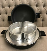 Rare New Miracle Maid Dutch Oven Stock Pot W/ Lid Steam Rack And Pans Usa