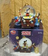 Disney Store Exclusive Mickey Mouse Through Years Collectible Snow Globe Music