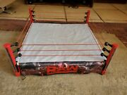 Mattel Wwe Elite Collection Raw Main Event Ring Playset Light Up Untested