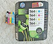 2 Sets  Hp 564xl High Cap Photo And Ink Cart Value Pack Plus 4 Out Of Box