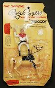 Vintage 1950s 1960 Hartland Plastics Roy Rogers And Trigger On Card Toy Figure