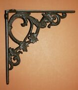 Vintage Cottage Wall Shelving Brackets, Solid Cast Iron, - B-37