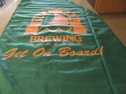 Full Sail Beer Lot Of Promo Banners 3 Vinyl Banners And 2 Cloth Sails