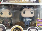 Funko Aragorn And Arwen Bobble Heads 2 Pack Lord Of The Rings Sdcc 2017 Exclusive