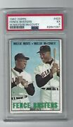 Willie Mays And Willie Mccovey Fence Busters 1967 Topps Card, 423, Psa Ex 5. Sf