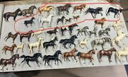 Lot Of 35andnbspbreyer Horse Vintage Clydesdale Dapple And 2 Blue Ribbon Horses Toy