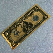 Rare Mint Condition 1000 Mg 24k Gold Aurum Indian Chief Note
