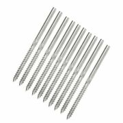 50x T316 Stainless Steel Swage Lag Screw Stud Thread Fitting 1/8 Cable Railing