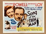 Song Of The Thin Man '47 William Powell And Myrna Loy With Asta Title Card