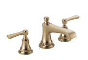 Brizo 65360lf Rook 1.2 Gpm Widespread Bathroom Faucet Pop-up Drain Assembly Gold