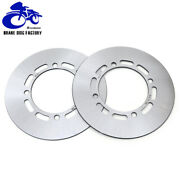 Round Front Brake Disc Rotors For Yamaha Grizzly 660 Yfm660 Hunter Edition 02-08