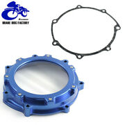 Aluminum Blue Billet Clutch Cover With Gasket For Yamaha Yfz450 Yfz450r 2006-20