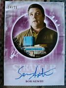 Sean Astin Purple 14/25 Autograph Card Stranger Things Welcome To Upside Down