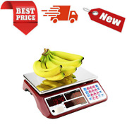 Digital Commercial Price Scale 66lb / 30kg For Food Meat Fruit Produce With Led