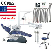 Dental Unit Chair Hard Leather Computer Controlled Dc Motor Stool /led Handpiece