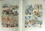 Antique Old Print 1888 Fox Hunting Egypt English Officers Camel Horse Dog 0 19th