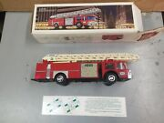 1986 Hess Truck Fire Truck Bank With Original Box Tested Works