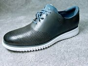 New Cole Haan Zerogrand Laser Wingtip Oxford Lined Shoes Gray Sz 9m Msrp 180