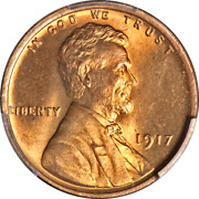 1917-p Lincoln Cent Pcgs Ms66 Rd Blazing Full Red Gem Superb Eye Appeal
