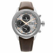 Raymond Weil Freelancer 42 Date Day Leather Steel Automatic Watch 7731-sc2-65655