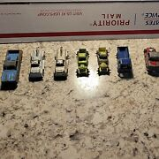 Lot Of 7 Early Vintage Midge Tootsie Toy Trucks Cars Tin Die Cast Chicago Usa
