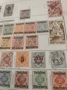 German States Vintage Wurttemberg Stamp Collection Used