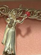 Disney Store Sterling Silver Limited Ed Snow White Charm And Bracelet 1996 Coa Mib