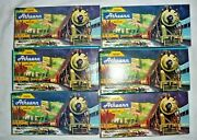 Lot Of 6 Ho Athearn Trains In Miniature Freight Cars Texaco Gulf Cn A.t. And S.f.