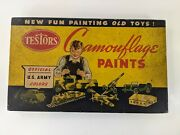 Vintage No 300 Testors Camouflage Paint Set Wwii Us Army Air Corps Old Toys Read