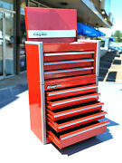 New Snap-on Red Candied Apple Micro Tool Box Rare Top And Bottom Set Mini Jewelry