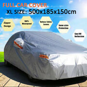 Full Car Cover Outdoor Dust Uv Protection Resistant W/ Zipper For Ford Mustang