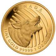 Canada 2014 200 Howling Wolf .9999 Pure Gold Coin 31.16 Grams Tax-exempt