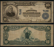 Greenville Oh 10 1902 Pb National Bank Note Ch 7130 Greenville Nb F/vf