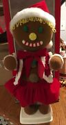 """Vintage Telco Gingerbread Motionette Animated Holiday Moving Figure 24""""boxed"""