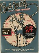 Bob Wills Texas Playboys – Way Out West Lost Trans 46-47 Vol 2 2 Cd New
