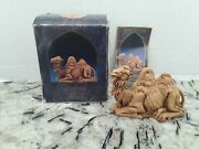 Fontanini Heirloom Nativity By Roman 5 Seated Camel 52545 Box And Card Included