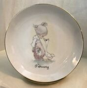 Vintage 1983 Precious Moments 6 1/4 February Plate With Saying On The Back