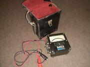 Rare Vintage Antique Weston Electrical Instrument Voltmeter. W/case And Leadscpandl