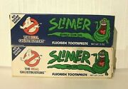 Rare The Real Ghostbusters Slimer Toothpaste Set New